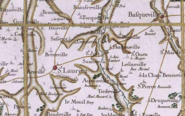 Saane saint just seine maritime carte cassini