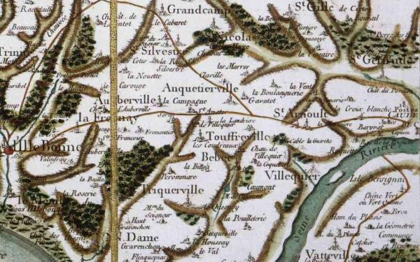 Saint arnoult seine maritime carte cassini