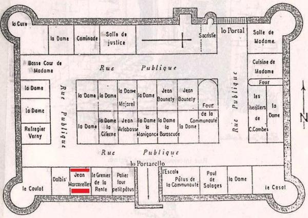 Saint jean et saint paul aveyron saint jean d alcas plan du fort en 1675