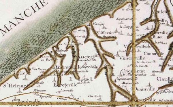 Saint martin aux buneaux seine maritime carte de cassini
