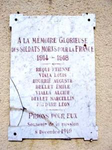 Saint pierre de la fage herault plaque auguste bourrie