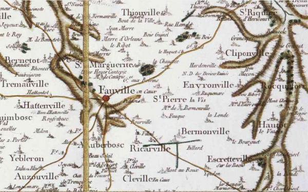 Saint pierre lavis seine maritime carte cassini