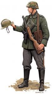 Soldat allemand en 40