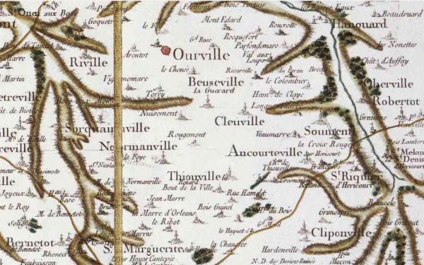 Sommesnil seine maritime carte cassini