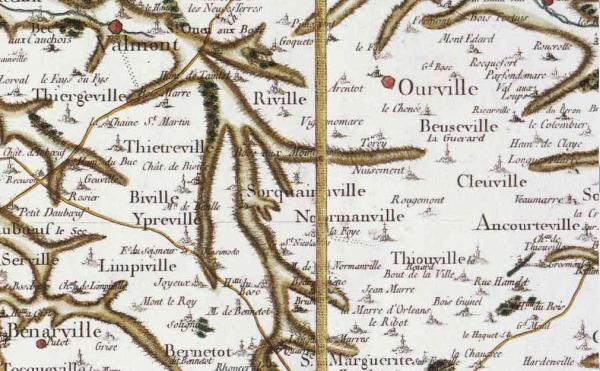 Sorquainville seine maritime carte cassini