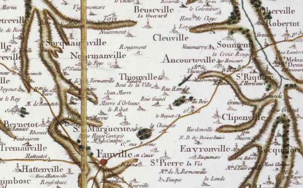 Thiouville seine maritime carte cassini 1