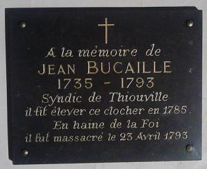Thiouville seine maritime plaque commemorative bucaille