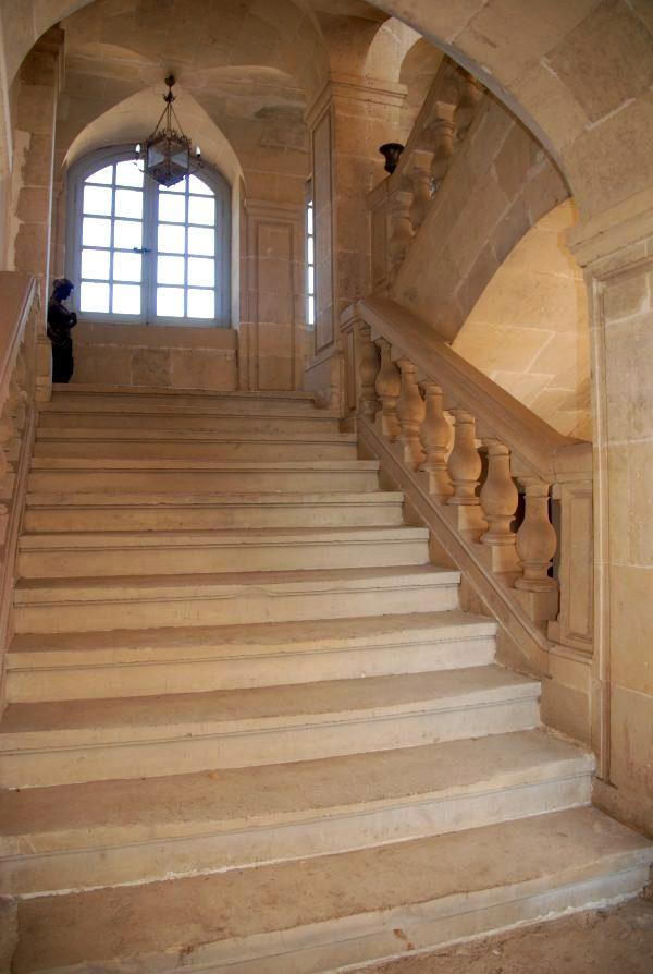 Urzy nievre le chateau des bordes escalier cpa