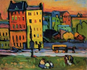 Vassily kandinsky 1908 houses in munich