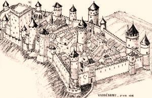 Vaudemont meurthe et moselle le chateau gravure