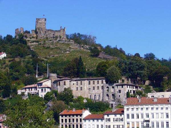 Vienne isere le chateau de la batie