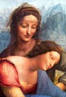 Vierge a l enfant et sainte anne