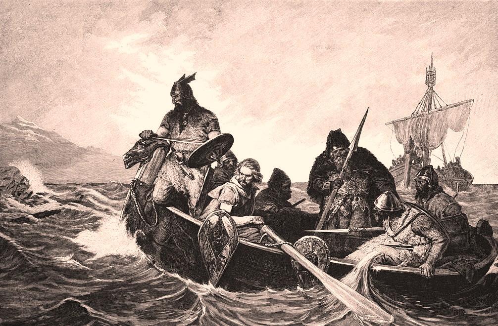 Vikings debarquant en islande