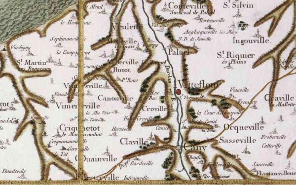 Vittefleur seine maritime carte cassini