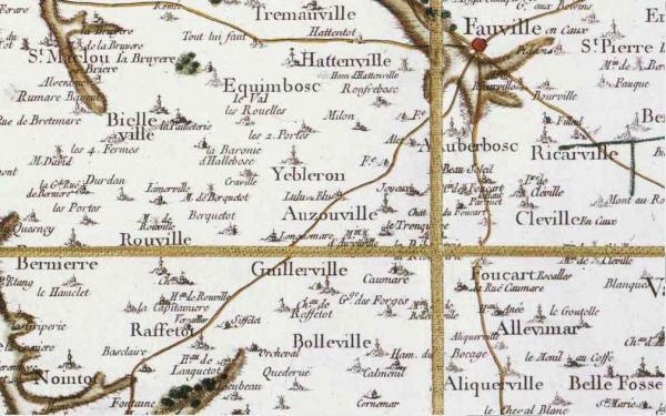 Yebleron seine maritime carte cassini