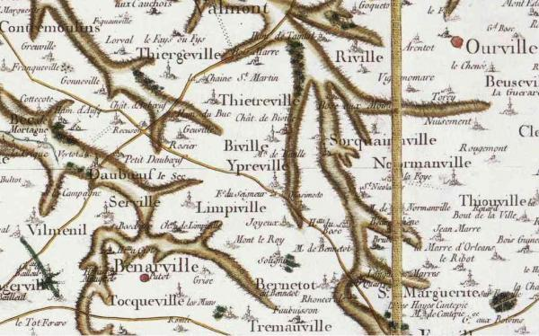 Ypreville biville seine maritime carte cassini