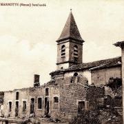 Apremont la foret 55 marbotte l eglise saint gerard 1914 1918