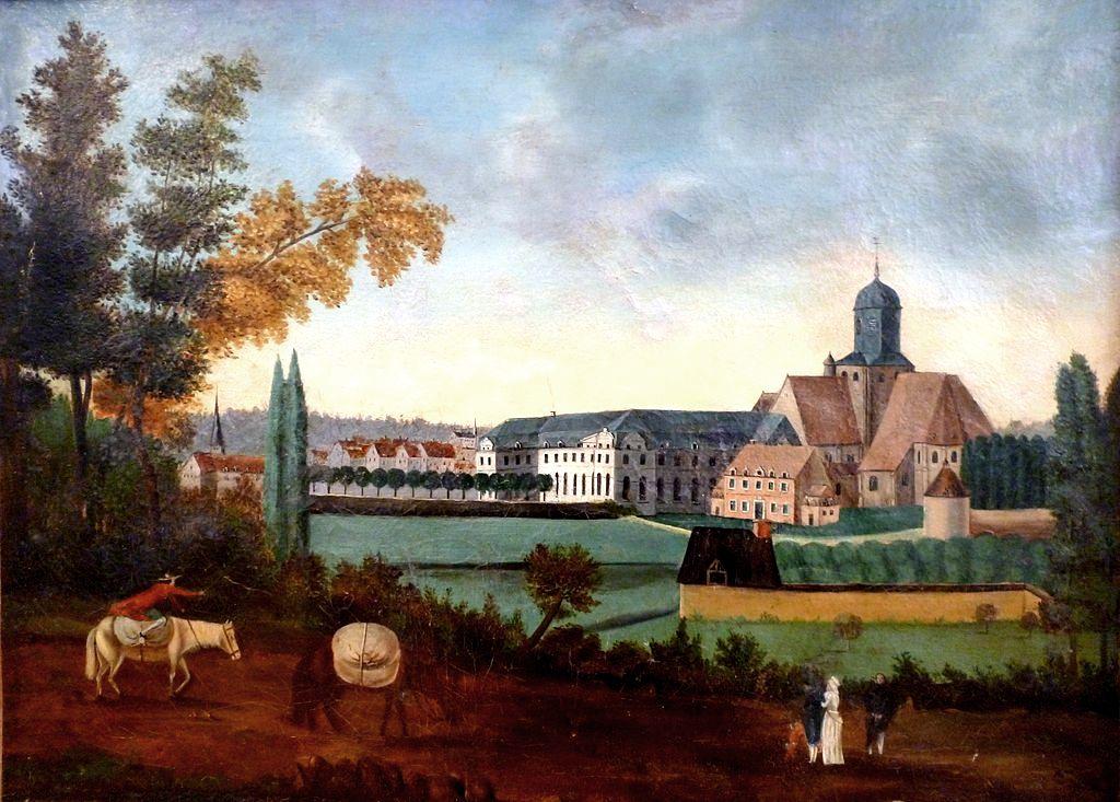 Ancienne abbaye Notre-Dame de Bernay en 1785