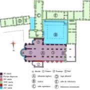 Plan de l'ancienne abbaye Notre-Dame de Bernay