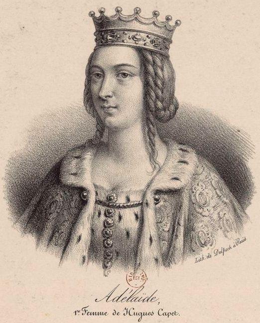 Adélaïde d'Aquitaine, son épouse