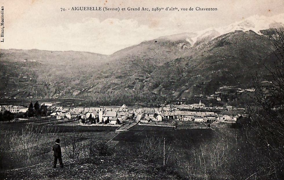 Aiguebelle (Savoie) Vue panoramique CPA
