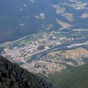 Aiguebelle (Savoie) Vue aérienne