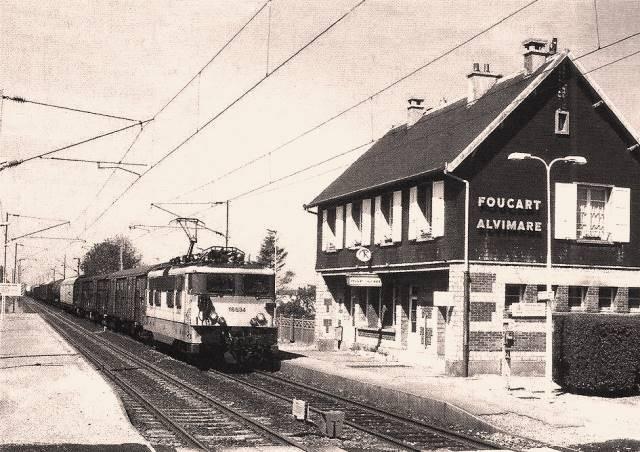 Alvimare (Seine-Maritime) Gare de Foucart-Alvimare vers 1950 CPA