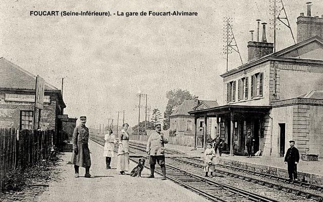 Alvimare (Seine-Maritime) Gare de Foucart-Alvimare CPA