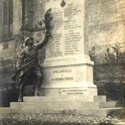 Amblainville oise cpa monument aux morts