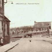Amblainville oise cpa place de l eglise