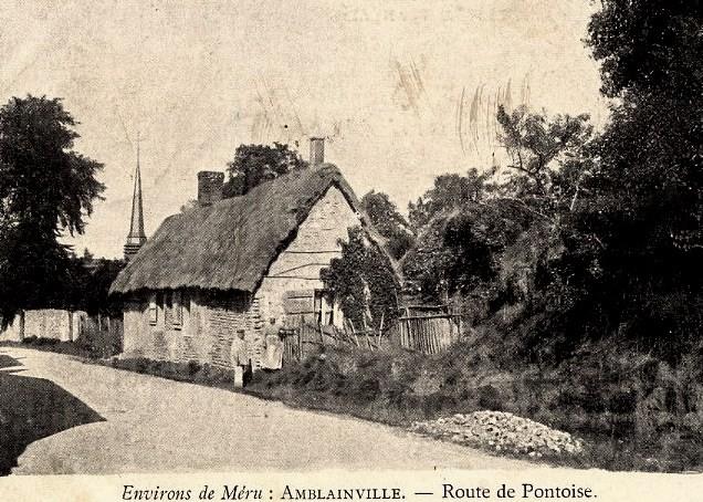 Amblainville oise cpa route de pontoise