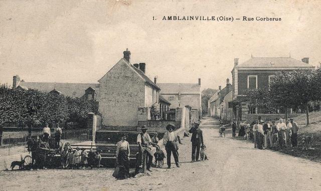 Amblainville oise cpa rue corberue