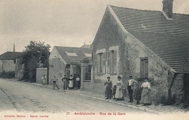 Amblainville oise cpa rue de la gare