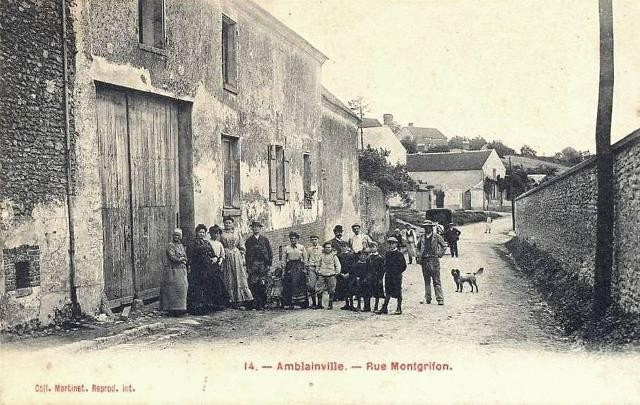 Amblainville oise cpa rue montgrifon