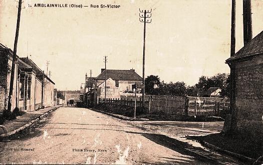 Amblainville oise cpa rue saint victor