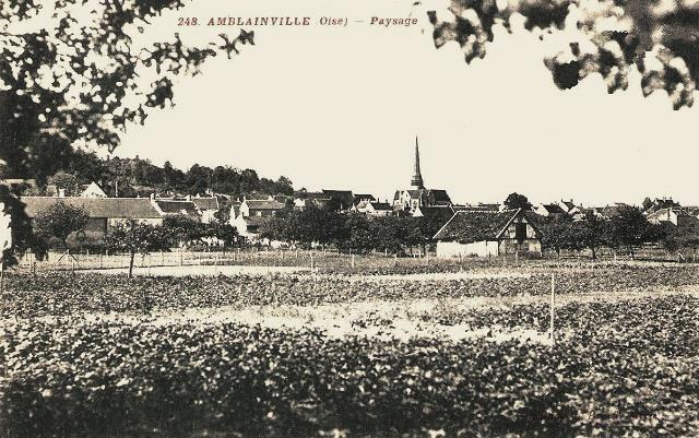 Amblainville oise cpa vue generale
