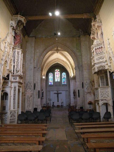 Amblainville oise eglise saint martin interieur