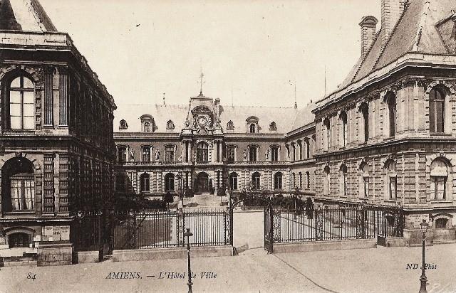 Amiens somme l hotel de ville cpa