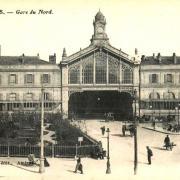 Amiens somme la gare du nord cpa