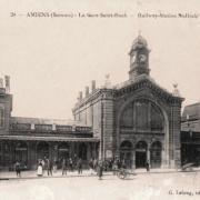 Amiens somme la gare saint roch cpa