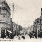 Amiens somme la rue de noyon cpa