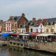 Amiens somme le quai belu