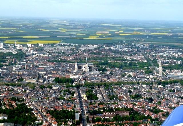 Amiens somme vue aerienne