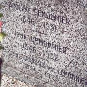 Cimetière d'Ancourteville, plaque sur tombe Lemonnier