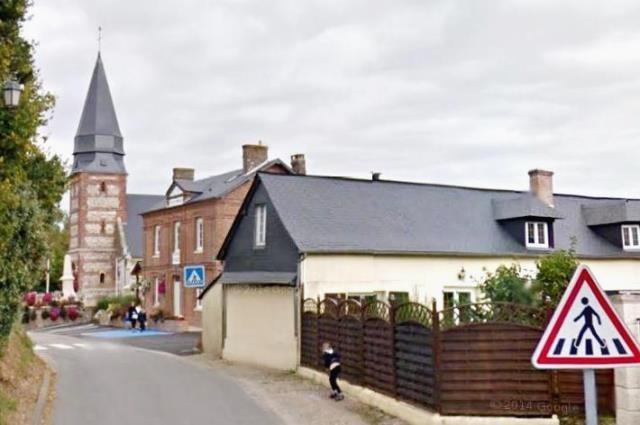 Ancourteville seine maritime eglise et mairie en 2013