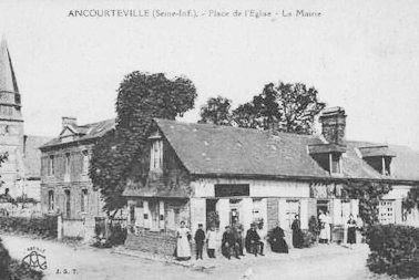 Ancourteville seine maritime eglise mairie et epicerie