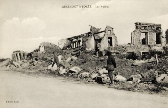 Apremont la foret 55 les ruines 1914 1918 cpa
