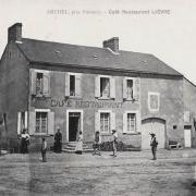 Arthel (Nièvre) Le café CPA