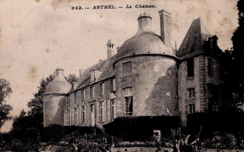 Arthel (Nièvre) Le  château CPA