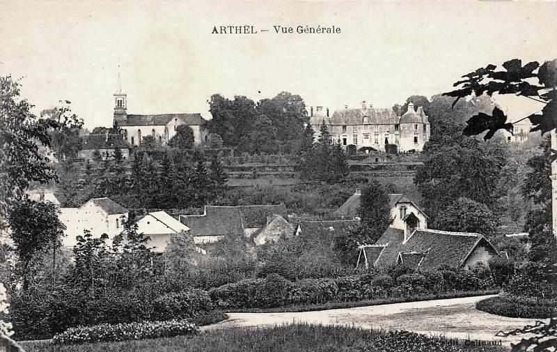 Arthel (Nièvre) Vue générale CPA